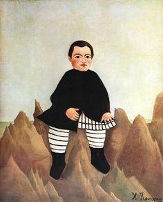 Henri Rousseau: Boy on the rocks - L'enfant aux rochers (1895-97)