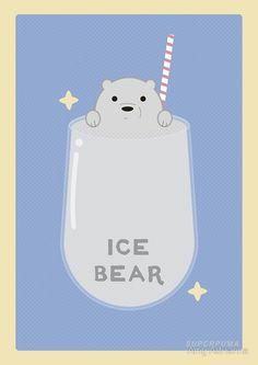 'we bare bears - ice bear' Photographic Print by Amy Adrianna
