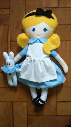 Alice - Fabric Rag Doll