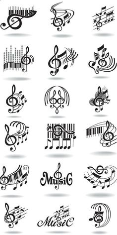 2 Hole Beads Treble Clef Note Notation Music Score Notes Sliders Jewelry QTY 5