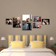 how to arrange photos on your wall