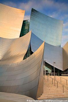 The Walt Disney Concert Hall, Los Angeles.