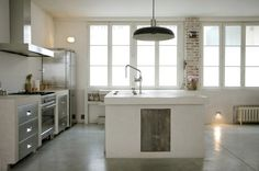 Down Light Pendant in Roxane Beis Paris Kitchen | Remodelista