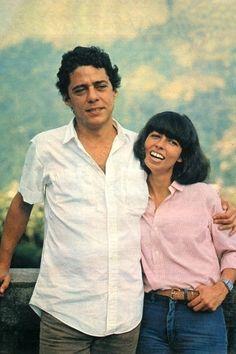 Chico Buarque e Nara Leão no 1980