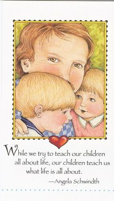 Children Teach Us What Life Is About Mom Fridge Art Magnet Mary Engelbreit Art #AnyOccasion