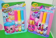 Shopkins-Coloring-Lot-Coloring-Book-w-Shopkin-crayons-Markers-4pcs-New
