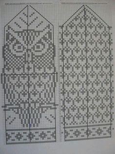 57 best ideas for knitting patterns mittens tricot Knitted Mittens Pattern, Knit Mittens, Knitted Gloves, Knitting Socks, Baby Knitting, Knitting Charts, Knitting Patterns Free, Owl Knitting Pattern, Free Pattern