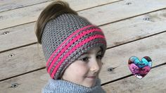 Bonnet Messy Bun crochet. Messy Bun beanie hat crochet (english subtitles)