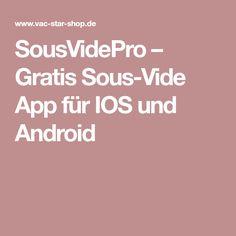 SousVidePro – Gratis Sous-Vide App für IOS und Android