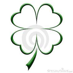 Four Leaf Clover Outline stock illustration. Illustration of green - 8384104 Irish Tattoos, Star Tattoos, Life Tattoos, Body Art Tattoos, Four Leaf Clover Drawing, Four Leaf Clover Tattoo, Celtic Clover Tattoos, Impression Poster, Shamrock Tattoos