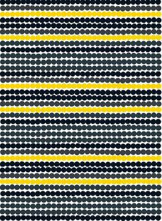 Räsymatto fabric (white, grey, black, yellow) | Fabrics, Cottons | Marimekko