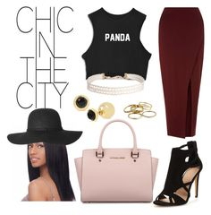 """""""Sap&chicstreet"""" by xosapengie ❤ liked on Polyvore featuring INC International Concepts, Miss Selfridge, Humble Chic, Kendra Scott and Michael Kors"""