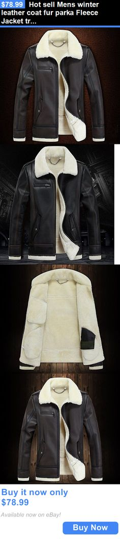 Men Coats And Jackets: Hot Sell Mens Winter Leather Coat Fur Parka Fleece Jacket Trench Jacket Coat BUY IT NOW ONLY: $78.99