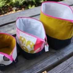 Open Wide Zippered Pouches...because who decided a skinny opening was a good way to find stuff?!