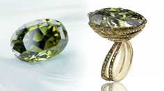 The Chopard Chameleon Diamond. The 31.32 carat oval-cut chameleon diamond is the largest documented stone in this category.