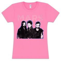 a PINK 30 Seconds To Mars shirt!!!