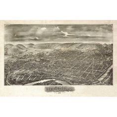 Antique Map of Reading Pennsylvania 1898 Berks County Canvas Art - (36 x 54)