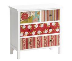 Dulap Multicolor Amanda cu aplicatii patchwork Magazine Rack, Decorative Boxes, Cabinet, Storage, Interior, Floral, Furniture, Amanda, Home Decor