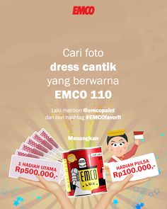 Kuis EMCO datang lagi!!! Hadiahnya UANG TUNAI Rp500.000 untuk pemenang UTAMA dan Rp100.000 untuk 10 orang pemenang hiburan!!! Pop Tarts, Tuna, Photo And Video, Instagram, Atlantic Bluefin Tuna