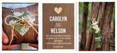 Wood theme wedding