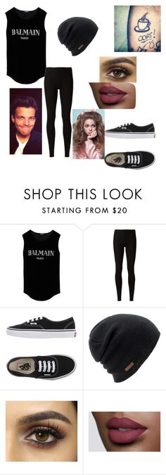 """""""If Louis Tomlinson was a girl"""" by glittergirl155 on Polyvore featuring Balmain, Rick Owens Lilies, Vans, Coal and Payne"""