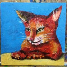 #MeowMonday work in progress. I'm trying to decide if this cat is done. I keep changing the background lol! localFloridaMiamiartcontemporarypaintingartist #305artist #Artacrylicpainting #Canvaspainting #Textureacrylicpainting #Contemporaryacrylicpainting #petwhimsicalcatanimaloriginallifepainting #Abstractcatpainting #artdrawing