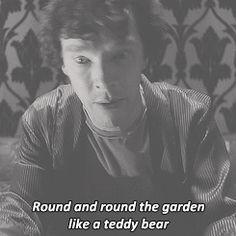 I love the way he says teddy bear.....