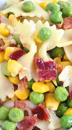 Easy Bacon Pea Pasta Salad