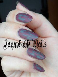 Improbable Nails: Shabby nails + make up in collaborazione con Alice in Makeupland