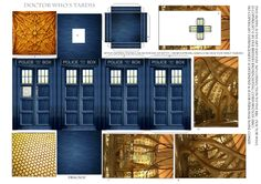 "Tardis template | ... Theda's Crypt: And Now a Bit for Our ""Dr. Who"" fans... The TARDIS"