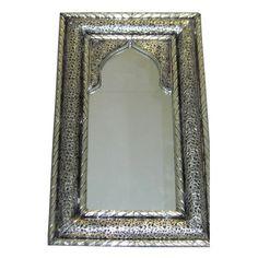 miroir marocain maillechort argente 81x55 cm riad miroirs m tal pinterest miroir marocain. Black Bedroom Furniture Sets. Home Design Ideas