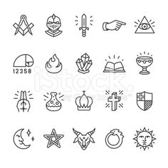 Alchemy and Mystery Cult related vector icons royalty-free alchemy and mystery cult related vector icons stock vector art & more images of 2015 Tattoo Design Drawings, Tattoo Designs, Free Vector Art, Vector Icons, Finger Tattoos, Body Art Tattoos, Science Icons, Data Science, Small Tats