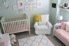 Soft Mint and Pink Nursery