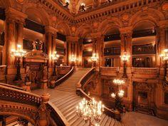 Stairway in the Palais Garnier (Paris, France)