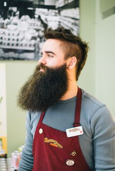 This guy sports one awesomely handsome beard
