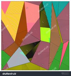 Abstract Modern Triangles Background Pattern Illustration. Space Layout And Design Template. Composition Of Pattern With Memphis Colors And Style. - 490065298 : Shutterstock