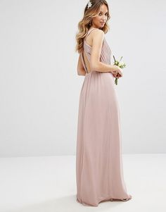 TFNC WEDDING Pleated Maxi Dress With Back Detail found on Nudevotion