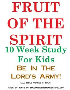 Free Fruit of the Spirit Bible Study for Kids  Tweens