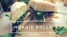 These Bread Machine Hoagie Rolls are easy and fun to make! Impress your family with fresh sandwich rolls for their lunches this week! Hoagie Roll Recipe Bread Machine, Bread Machine Rolls, Bread Machine Recipes, Bread Rolls, Bread Recipes, Thing 1, Americas Test Kitchen, Slow Cooker Pork, Oven Racks