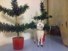 German putz sheep and old german feather trees