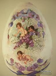 Αποτέλεσμα εικόνας για πασχαλινα αυγα decoupage