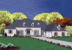 House Plan 56336 | European    Plan with 4750 Sq. Ft., 4 Bedrooms, 4 Bathrooms, 2 Car Garage