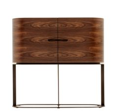 Ino Bar Cabinet - Two Door. Designed by Chi Wing Lo for Giorgetti is available at Switch Modern - your source for original contemporary design. The Ino two door bar cabinet is constructed in walnut canaletto wood. Sideboard Cabinet, Cabinet Furniture, Design Furniture, Table Furniture, Luxury Furniture, Cool Furniture, Modern Furniture, Console Design, Bar Cart Decor