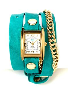 My Fav colors! #watch #turquoise #gold