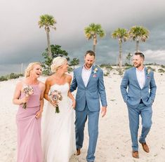 Dusty blue groom and groomsman suit and dusty pink bridesmaid dress inspiration for a beach wedding. Jennie Tewell Photography. // mysweetengagement.com // #wedding #beachwedding #bride #groom #groomsmen #bridesmaid Groomsmen Attire Beach Wedding, Beach Wedding Groomsmen, Groom And Groomsmen Suits, Blue Beach Wedding, Wedding Bridesmaids, Groomsmen Attire Purple, Beach Groom, Wedding Pastel, Wedding Tux