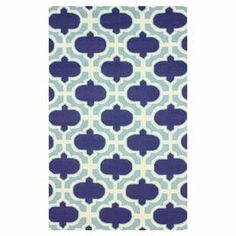 Bring a pop of pattern to any room with this hand-hooked wool rug, showcasing a chic quatrefoil motif.   Product: RugConstruction Material: 100% WoolColor: SkyFeatures: Hand-hookedDimensions: 5' x 8'Note: Please be aware that actual colors may vary from those shown on your screen. Accent rugs may also not show the entire pattern that the corresponding area rugs have.Cleaning and Care: Spot treat with a mild detergent and water.  Professional cleaning is recommended if necessary.