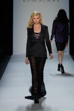 Black Denim Blazer with Houndstooth Detail, Lace Cami, Black Pleat Maxi Skirt