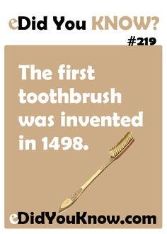 This was over 500 years ago. Discover better tips on best ways to brush your teeth. #DentalConcepts
