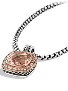 Albion Pendant with Diamonds in Rose Gold