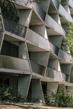 Bienenstock in Sichtbeton - Wohnhaus in Genf von NOMOS